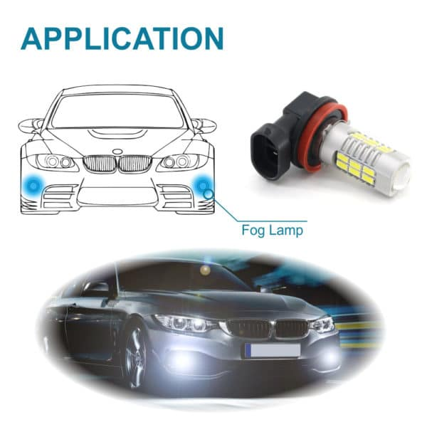 Plug & Play LED Fog Lights For Cars