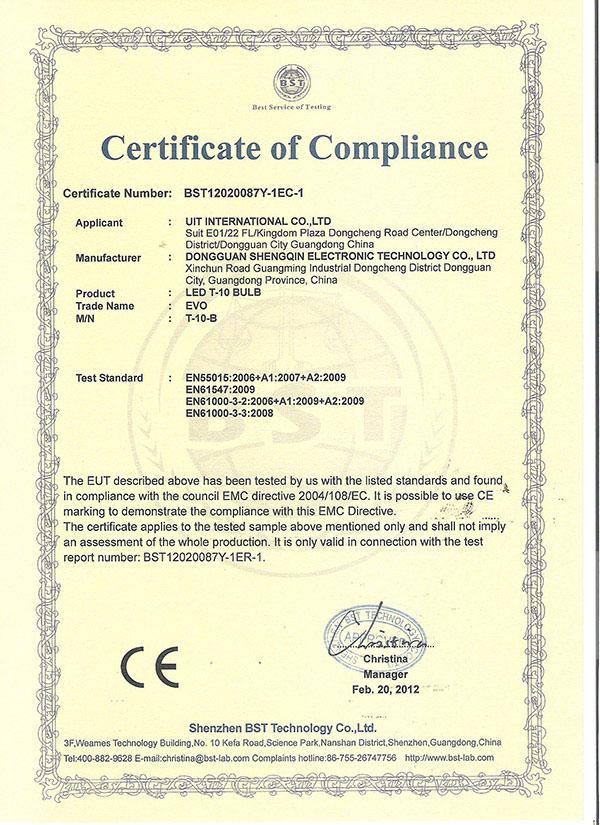 CE Certificate LED T10 W5W Bulbs Auto Light