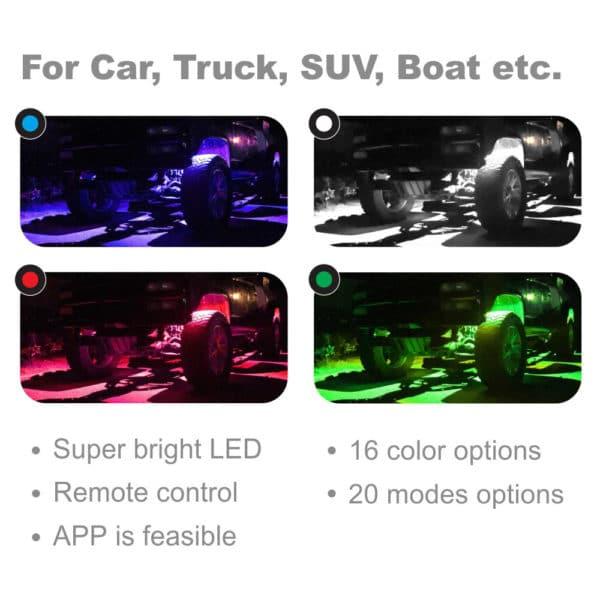 Multicolor Truck Car SUV LED Rock Light
