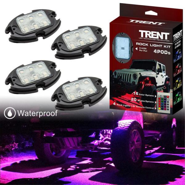 Multicolor Car LED Rock Light Kit