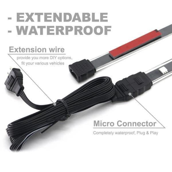 Waterproof LED Strip Light Underglow Kits