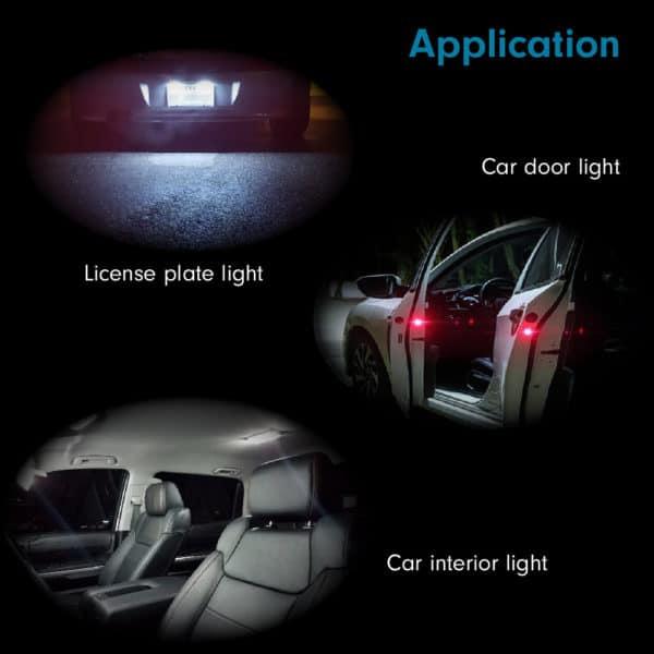 Auto Liense Plate Lights T10