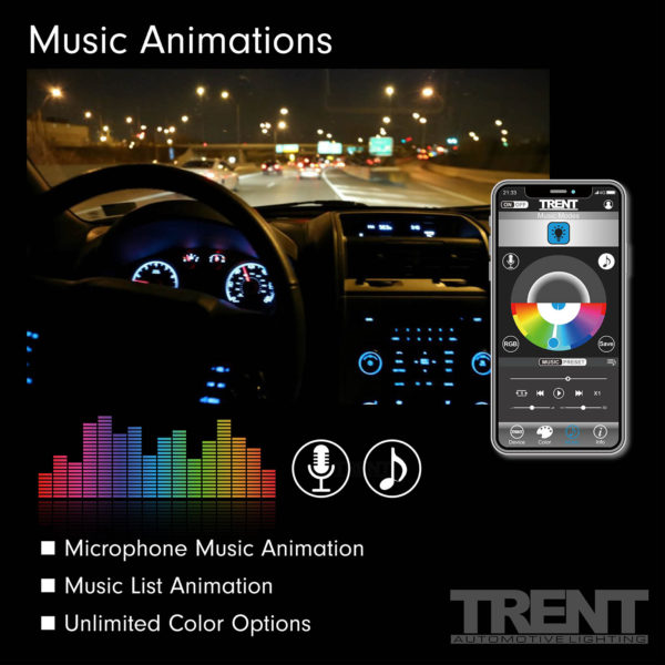 APP Car Strip Light Music Animations